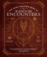 the game master's book of random encounters cover