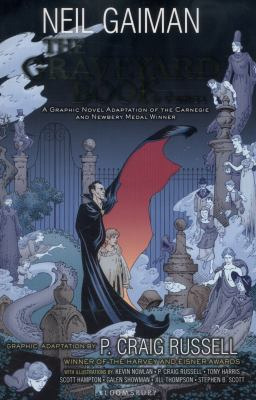 Cover image for The graveyard book [graphic novel] : Volume 1 / based on the novel by Neil Gaiman ; adapted by P. Craig Russell ; illustrated by Kevin Nowlan and six others.