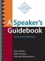 Cover image for A speaker's guidebook : text and reference