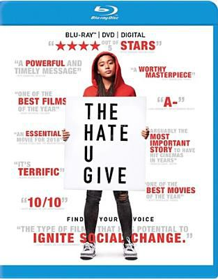 Cover image for The hate U give / Fox 2000 Pictures presents a Temple Hill/State Street Pictures production ; produced by Robert Teitel, George Tillman, Jr., Marty Bowen, Wyck Godfrey ; screenplay by Audrey Wells ; directed by George Tillman, Jr.