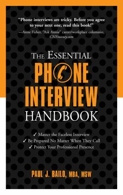 Cover image for The essential phone interview handbook