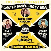 Cover illustration for The Great Tragedy-Winter Dance Party 1959