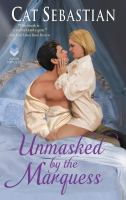 Cover illustration for Unmasked by the marquess
