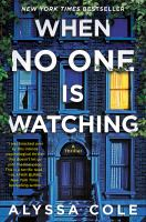 Cover illustration for When No One Is Watching