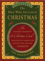 Cover illustration for The Man who invented Christmas