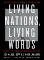 Cover illustration for Living Nations, Living Words: An Anthology of First Peoples Poetry