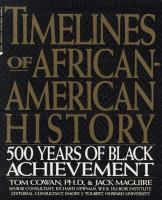 Cover illustration for Timelines of African-American history