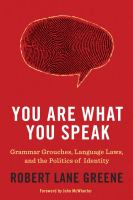 Cover illustration for You Are What You Speak