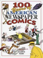 Cover illustration for 100 Years of American Newspaper Comics