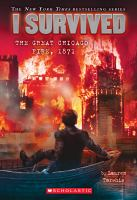 Cover illustration for I Survived the Great Chicago Fire, 1871