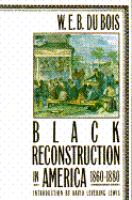 Cover illustration for Black reconstruction in America