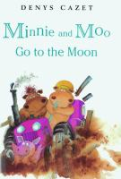 Cover illustration for Minnie and Moo go to the moon