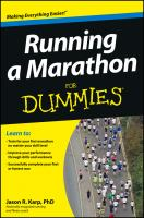 Cover illustration for Running a Marathon for Dummies