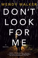 Cover illustration for Don't Look for Me