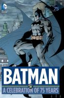 Cover illustration for Batman : a celebration of 75 years