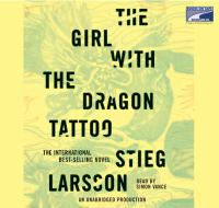 Cover illustration for The girl with the dragon tattoo [sound recording]
