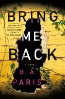 Cover illustration for Bring Me Back