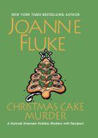 Cover illustration for Christmas Cake Murder