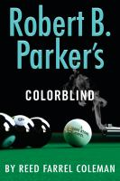 Cover illustration for Robert B. Parker's Colorblind