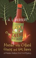 Cover illustration for Murder with Collard Greens and Hot Sauce