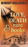 Cover illustration for Love, Death & Rare Books