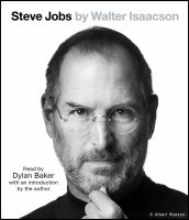 Cover illustration for Steve Jobs [sound recording]
