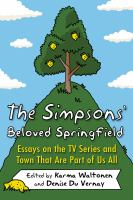 Cover illustration for The Simpsons' Beloved Springfield