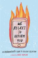 Cover illustration for We Regret to Inform You