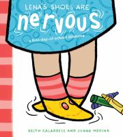 Cover illustration for Lena's Shoes are Nervous