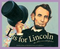 Cover illustration for L is for Lincoln: An Illinois Alphabet
