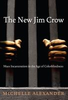 Cover illustration for The new Jim Crow