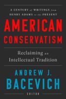 Cover illustration for American Conservatism: Reclaiming an Intellectual Tradition