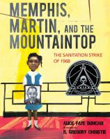 Cover illustration for Memphis, Martin, and the Mountaintop