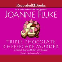 Cover illustration for Triple Chocolate Cheesecake Murder