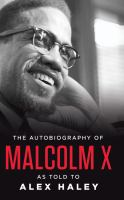 Cover illustration for The Autobiography of Malcolm X