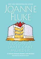 Cover illustration for Coconut Layer Cake Murder