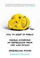 Cover illustration for How to Weep in Public