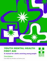 Book cover: Youth mental health first aid : a manual for adults assisting young people