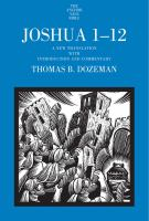 Cover image for Joshua 1-12 : a new translation with introduction and commentary
