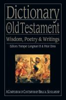 Cover image for Dictionary of the Old Testament : wisdom, poetry & writings