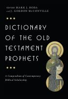 Cover image for Dictionary of the Old Testament : prophets