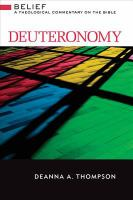Cover image for Deuteronomy