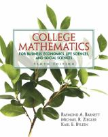 Cover image for College mathematics for business, economics, life sciences, and social sciences