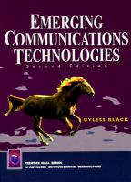 Cover image for Emerging communications technologies