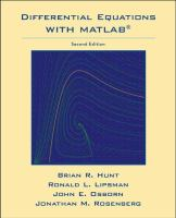 Cover image for Differential equations with MATLAB :  updated for MATLAB 7 and Simulink 6