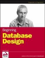 Cover image for Beginning database design