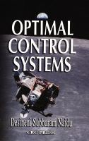 Cover image for Optimal control systems