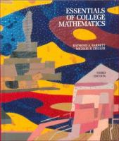 Cover image for Essentials of college mathematics : for business, economics, life sciences, and social sciences