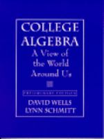 Cover image for College algebra : a view of the world around us