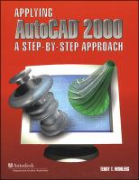 Cover image for Applying autocad 2000 : a step-by-step approach
